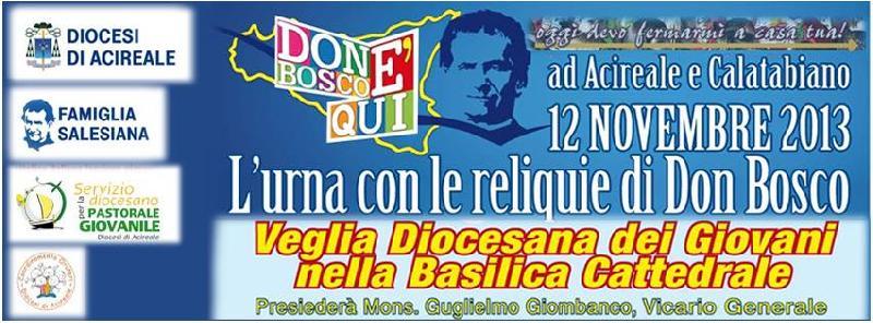 I giovani della Diocesi accolgono l'urna di Don Bosco
