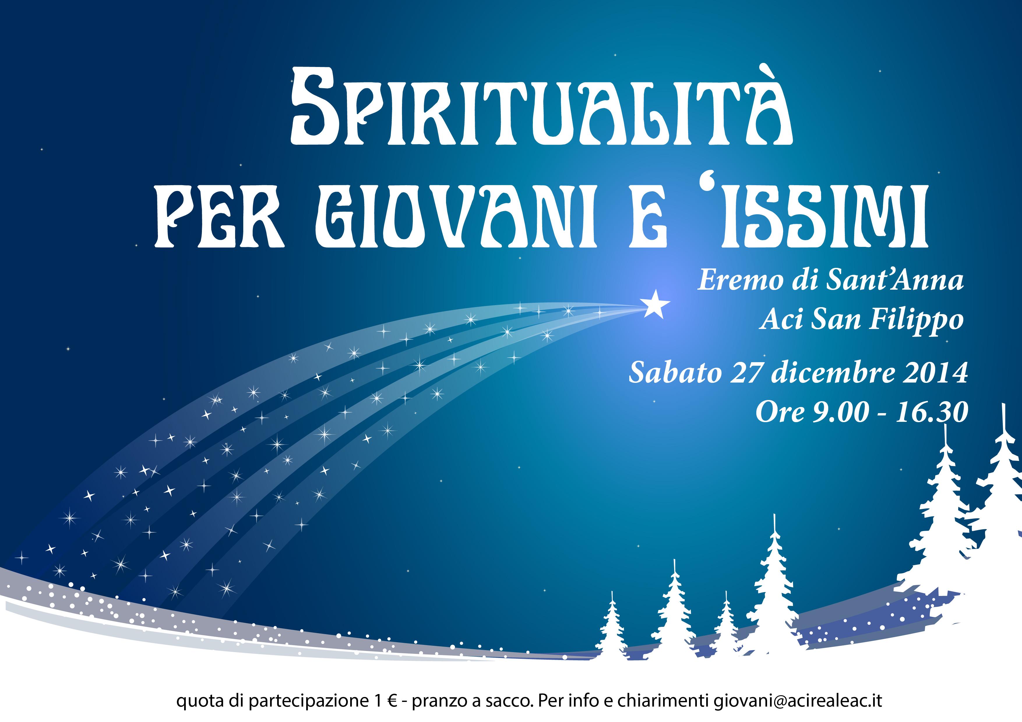 Gli Auguri del Settore Giovani… …e l'invito a giovani e issimi per la Giornata di Spiritualità del 27 Dicembre!!!