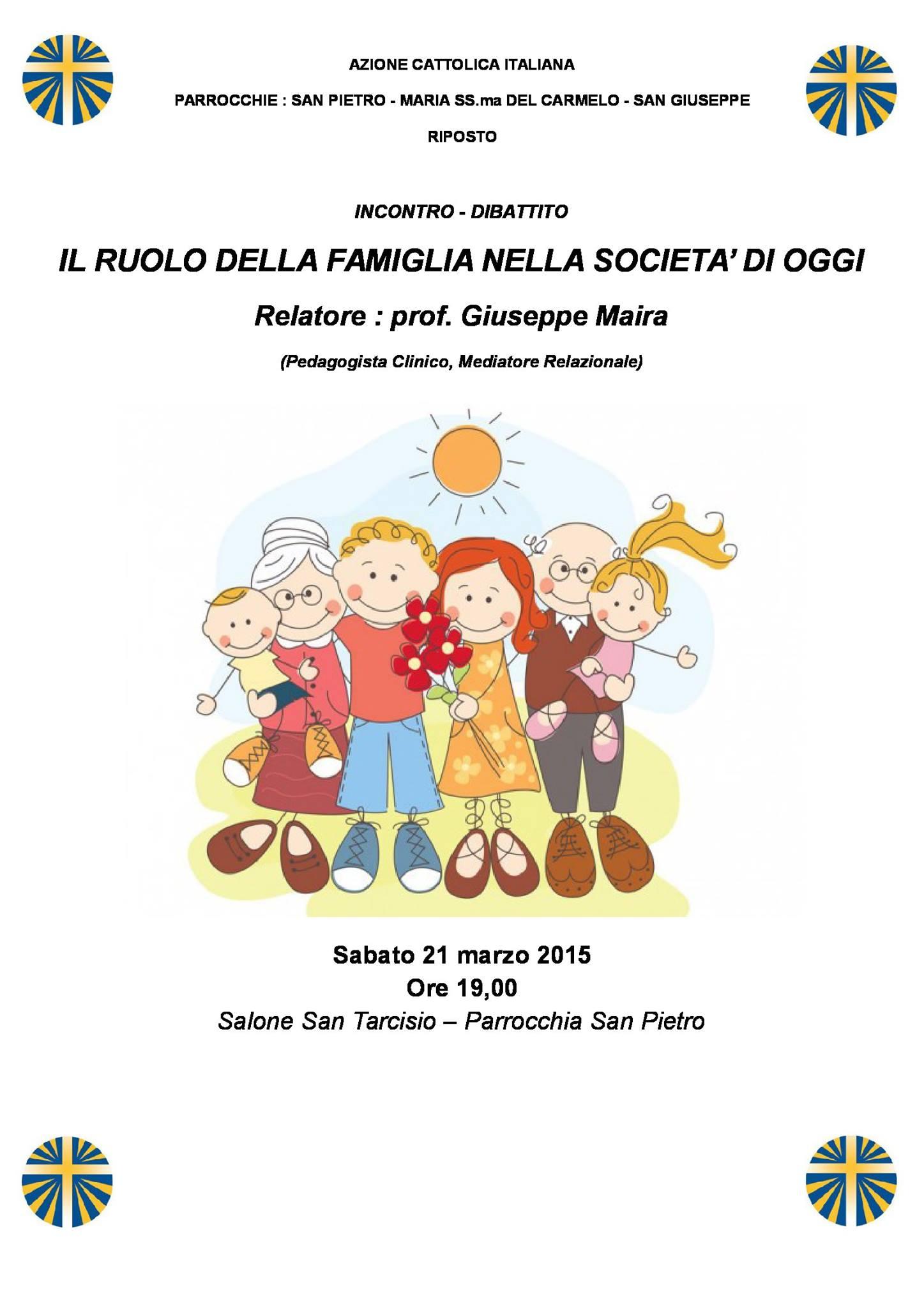 Il ruolo della famiglia nella società di oggi