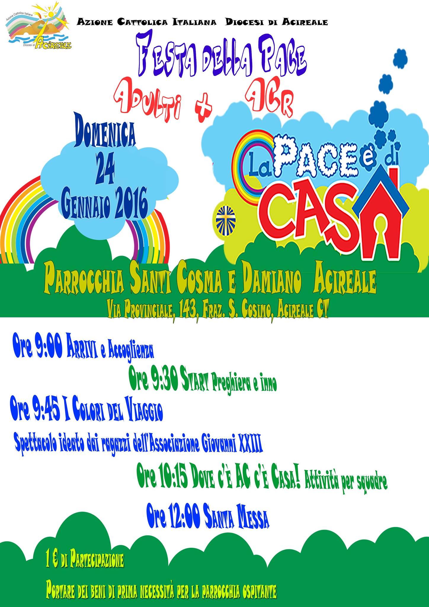 Festa della Pace 2016 ACR + ADULTI