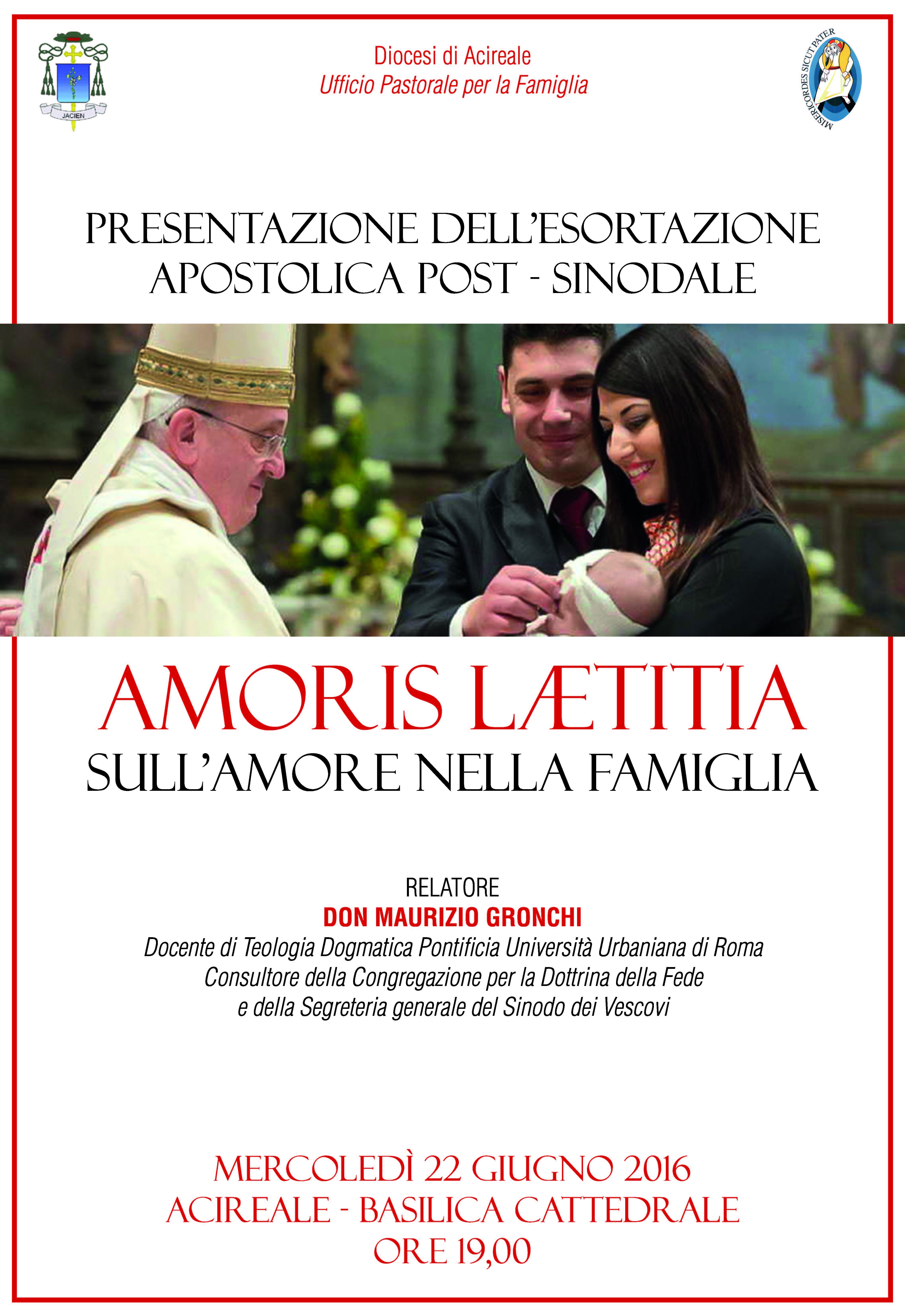 """In Cattedrale conferenza sull'""""Amoris Laetitia"""""""