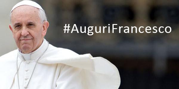 Auguri a papa Francesco