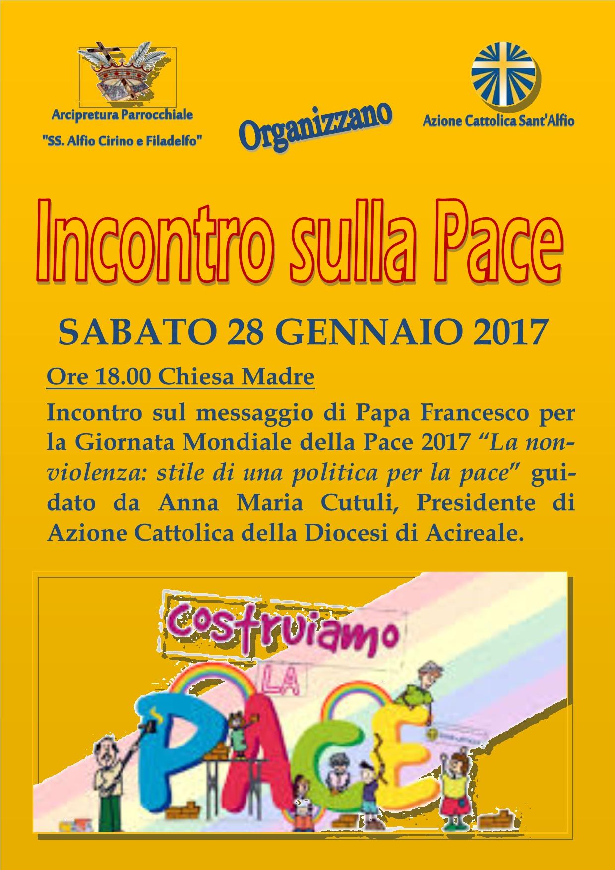 Un incontro sulla Pace a Sant'Alfio