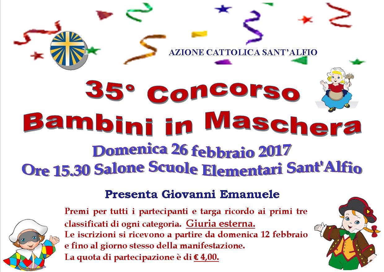 Concorso bambini in maschera a Sant'Alfio
