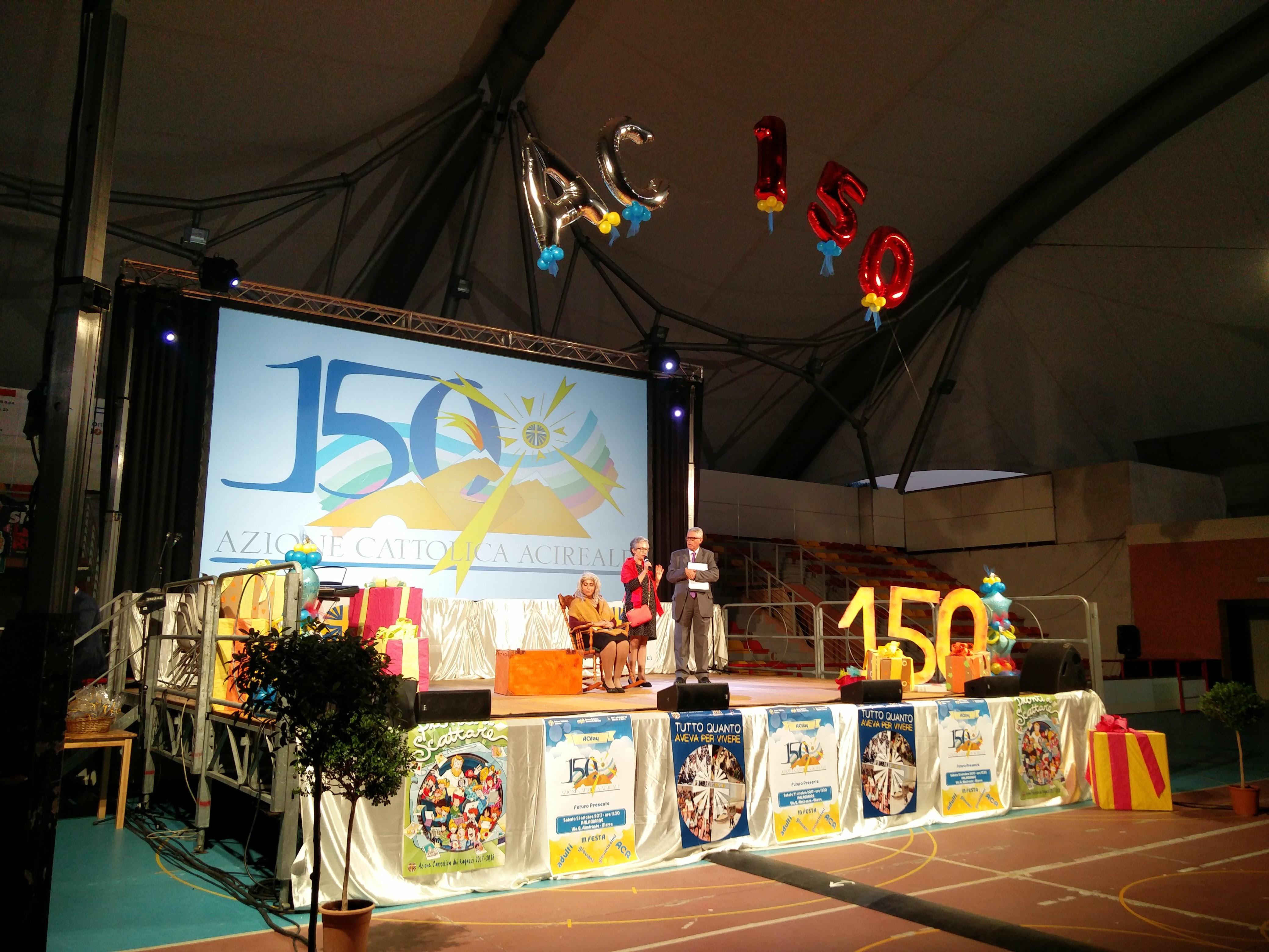 """La festa di Giarre per i 150 anni dell'Azione cattolica, una """"vecchietta"""" che fa tendere verso l'alto"""