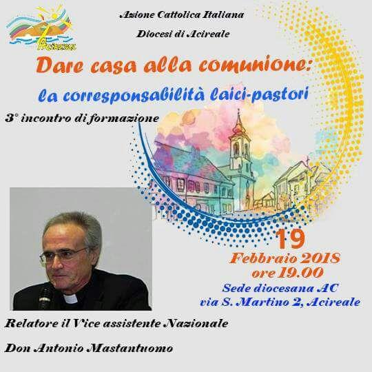 Incontro di formazione con don Antonio Mastantuono