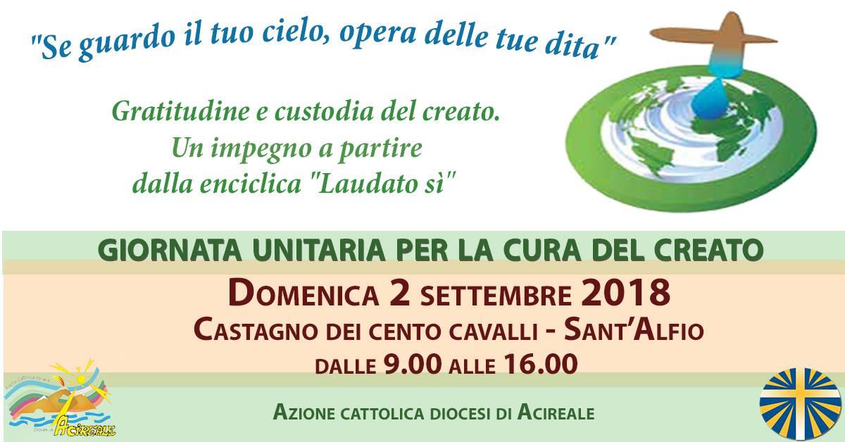 Giornata unitaria per la cura del Creato – Domenica 2 settembre 2018