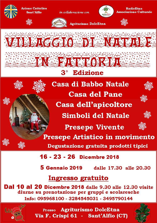 """A Sant'Alfio riapre il """"Villaggio di Natale in fattoria"""""""