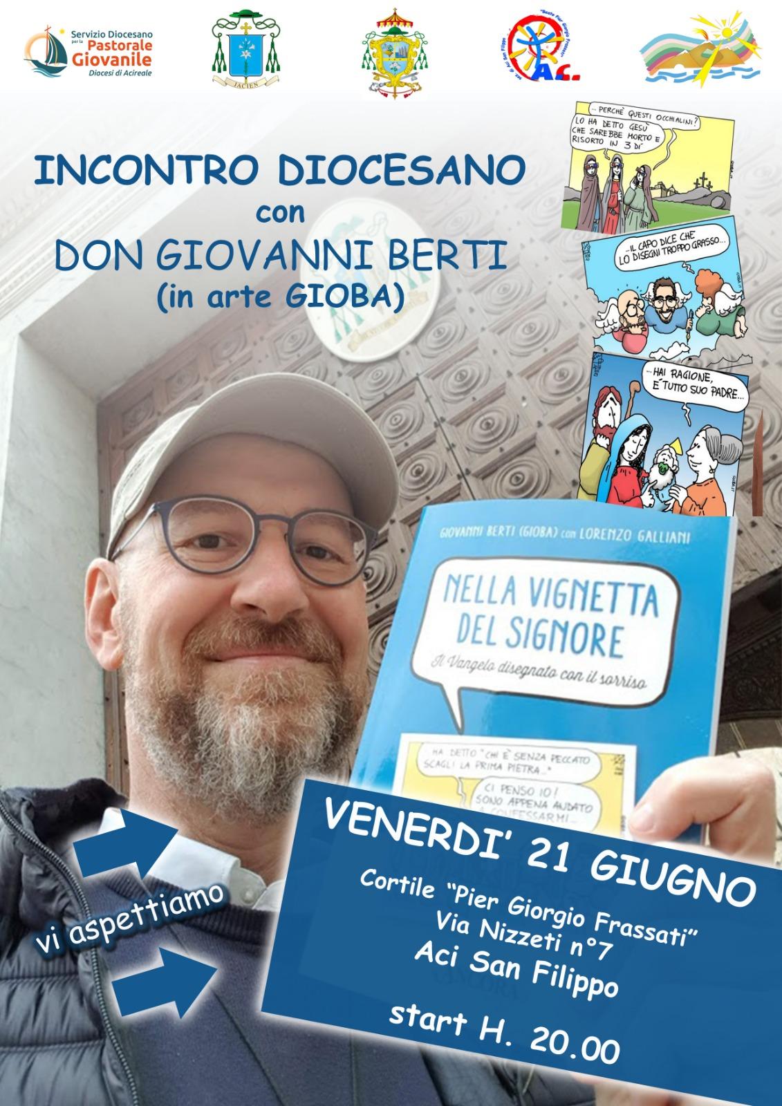 Incontro diocesano con Don Giovanni Berti (in arte Gioba)