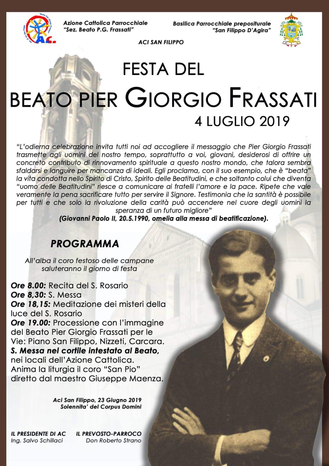 L'azione Cattolica di Aci San Filippo si prepara alla Festa liturgica del Beato Pier Giorgio Frassati