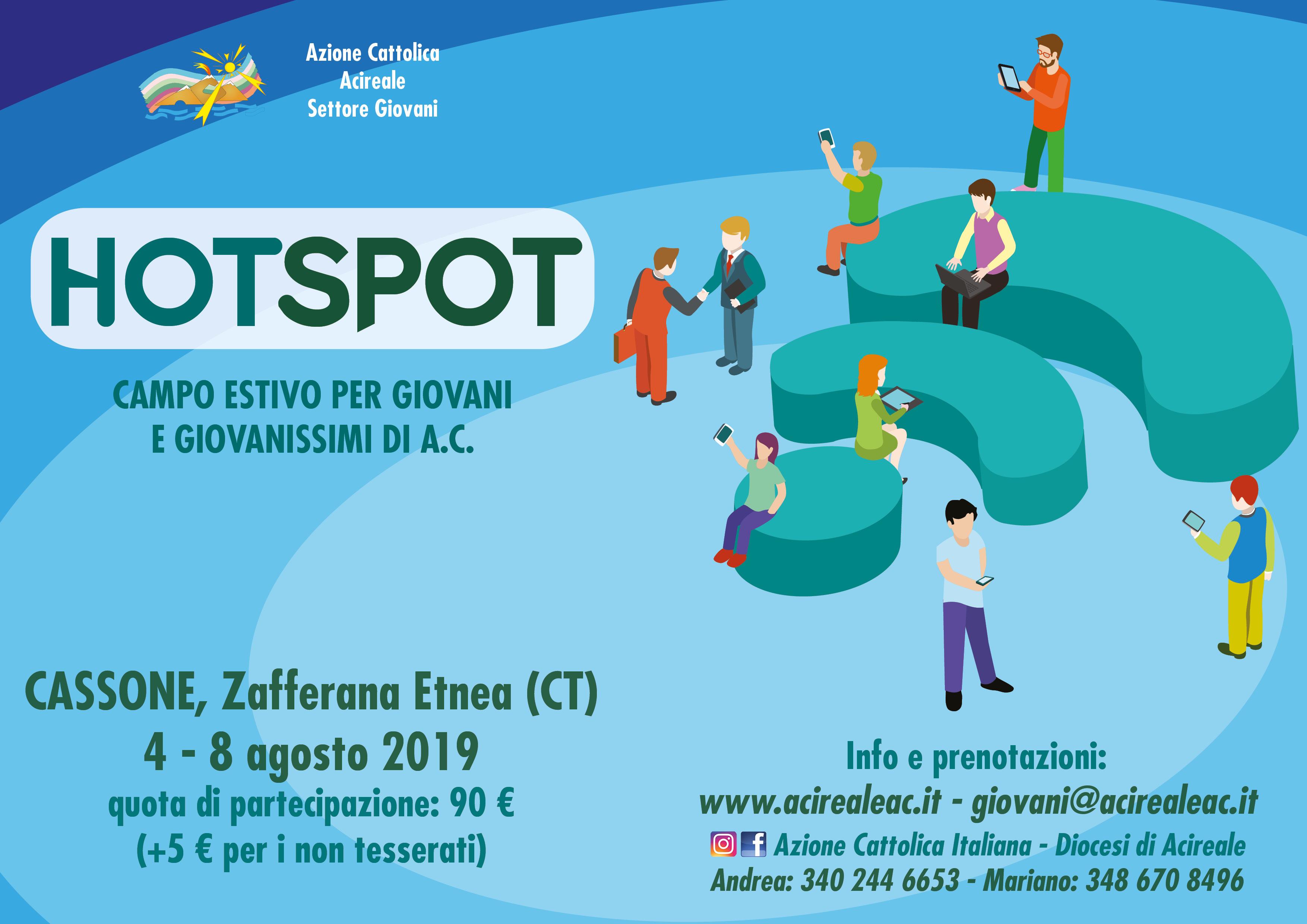 Hotspot: campo diocesano del settore Giovani
