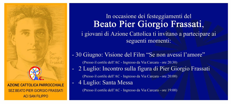 Festa del Beato Pier Giorgio Frassati ad Aci San Filippo
