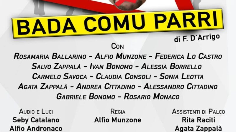 """Bada comu parri"" – Aci San Filippo, 6/12/13 settembre 2020"