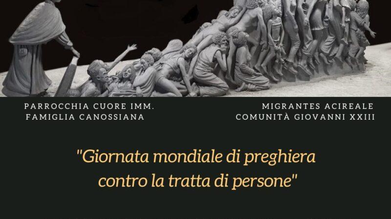 """""""Giornata mondiale di preghiera contro la tratta di persone""""."""